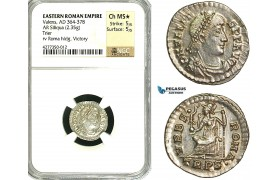 ZD49, Eastern Roman Empire, Valens (364-368 AD), AR Siliqua (2.35g) Trier, Roma seated, NGC MS★