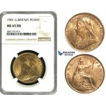 ZD51, Great Britain, Victoria, Penny 1901, NGC MS65RB