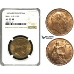 ZD52, Great Britain, Edward VII, Penny 1902, High Sea Level, NGC MS65RB