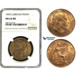 ZD53, Great Britain, Edward VII, Penny 1904, NGC MS64RB
