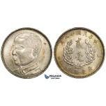 ZD87, China, Kwangtung, 20 Cents Yr. 18 (1929) Silver, Toned UNC