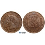 ZD97, France, Napoleon III, 5 Centimes 1853-W, Lille, Lustrous XF (SUP58)