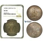ZE16, Great Britain, Trade Dollar 1898-B, Bombay, Silver, NGC AU58