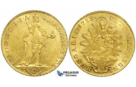 ZE31, Hungary, Joseph II, 2 Ducats 1782, Kremnitz, Gold (6.97g) Cleaned UNC (Minor scratch)