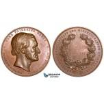 ZE47, Germany, Göttingen, Bronze medal by Brehmer 1877 (Ø 70mm, 179g) On the 100th Birthday of Karl Friedrich Gauss, XF-UNC