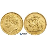 ZE62, Great Britain, George IV, 1 Sovereign 1821, London, Gold (7.98g) VF-gVF (Scratches on Obv!)