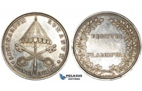 ZE63, Italy, Papal, Pope Pius VII, Medal by L. Gennary 1805, Silver (Ø 40mm, 25g) on the Roman Seminary, aEF