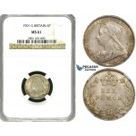 ZE92, Great Britain, Victoria, Sixpence (6 Pence) 1901, Silver, NGC MS61