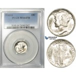 ZF21, United States, Mercury Dime (10C) 1943, Philadelphia, Silver, PCGS MS64