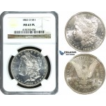 ZF22, United States, Morgan Dollar 1882-O, New Orleans, Silver, NGC MS63PL