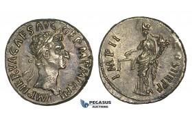 ZF28, Roman Empire, Nerva (96-98 AD), AR Denarius (3.48g) Rome, 98 AD, Aequitas, gVF (Scratches)