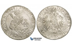 ZF31, Austria, Bohemia, Ferdinand I, Guldentaler (60 Kreuzer) 1562, Joachimstal, Silver (24.67g) VF/gVF