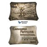 ZF54, Belgium, Namur City, Silver Plaque (68.22g) Horse contest 1926, Train, Boats, Railroad, Bridge, VF