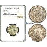 ZF66, Germany, Wilhelm II, 1 Mark 1909-A, Berlin, Silver, NGC MS64