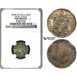 ZG06, Italy, Papal, Pius IX, 10 Baiocchi 1858-R XIII, Rome, Silver, NGC UNC Details