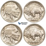 ZG14, United States, Buffalo Nickel (5C) 1913 Pair (Type I & II) About AU both coins