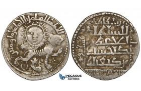 ZG27, Seljuks of Rum, Kay Khusraw II, (AH 634-644). AR Dirhem (2.94 g), Siwas, AH 639. aVF