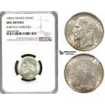 ZG30, France, Napoleon III, 1 France 1852-A, Paris, Silver, NGC UNC Details