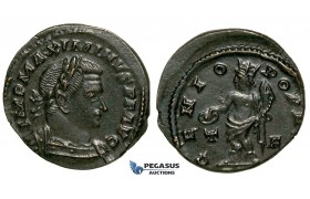 ZG50, Roman Empire, Maximinus II (311-313 AD) Æ Nummus (5.42g) Treveri (Trier) Genius, Brown VF-EF