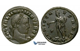 ZG51, Roman Empire, Maximinus II (311-313 AD) Æ Nummus (6.44g) Cyzicus, Genius, Brown VF-EF