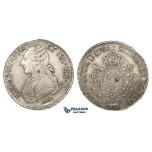 ZG59, France, Louis XVI, Ecu 1786, Ox mm, Pau, Silver, VF-XF, Die adjustment marks