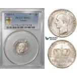 ZG68, Greece, George I, 50 Lepta 1883-A, Paris, Silver, PCGS MS63