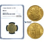 ZG83, France, Louis XVI, Louis D'or 1786-K, Bordeaux, Gold, NGC MS61