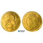 ZG94, Sweden, Karl XIII, Ducat (Dukat) 1814 OL, Stockholm, Gold (3.49g) SM 6, XF (ligtly bent, some minor field damages)