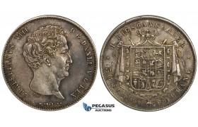 ZH10, Denmark, Christian VIII, 1 Rigsbankdaler 1848 VS, Copenhagen, Silver, Stained VF