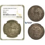 ZH34, Hungary, Rudolf II, Taler 1604, Nagybanya, Silver, NGC MS62, Rare!