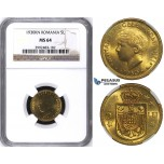 ZH62, Romania, Mihai I, 5 Lei 1930-KN, Kings Norton, NGC MS64