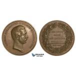 ZH74, Russia for Finland, Alexander II, Bronze Medal 1864 (Ø 55m, 74g) by Lea Ahlborn, in memory of Finnish Seym