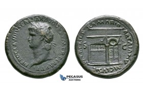 ZH98, Roman Empire, Nero (54-68 AD) Æ Sestertius (25.26g) Lugdunum (Lyon) 65 AD, Temple of Janus