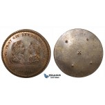 ZI01, France, Louis XV, Bronze Medal Pattern? 1721 (Ø33mm  7.78g) on Wedding to Marie Anne Victoire of Spain, Rare