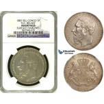 ZI03, Belgian Congo, Leopold II, 5 Francs 1887, Silver