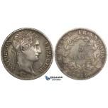 ZI15, France, Napoleon I, 5 Francs 1811-A, Paris, Silver, Toned, Lightly Polished gVF
