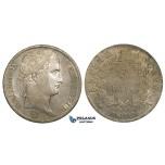 ZI16, France, Napoleon I, 5 Francs 1812-A, Paris, Silver, Cleaned aXF