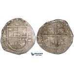 ZI26, Spain, Felipe II, Cob 2 Reales 1588-S, Seville, Silver (6.74g) VF