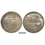 ZI28, Spain, Felipe II, 8 Reales 1590, Segovia, Silver (27.79g) Cal. 220, Lustrous EF-UNC (minor cleaning), Rare!
