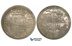 ZI28, Spain, Felipe II, 8 Reales 1590, Segovia, Silver (27.79g) Cal. 220, Lustrous EF-UNC (minor cleaning), Rare!