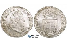 ZI45, France, Lorraine, Leopold I, Teston 1716, Silver, UNC