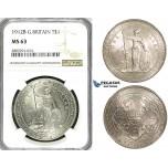 ZI52, Great Britain, Trade Dollar 1912-B, Bombay, Silver, NGC MS63