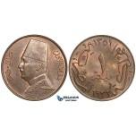 ZI84, Egypt, Fuad, 1 Millieme AH1351/1932-H, Heaton, UNC