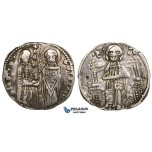 ZI99, Serbia, Stefan Uros II Milutin, AR Grosch ND (1282-1321) Silver (1.86g) Minor damage, VF