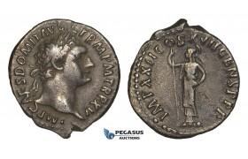 ZJ18, Roman Empire, Domitian (81-96 AD) AR Denarius (3.19g) Rome, 95-96 AD, Minerva, VF
