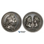 ZJ68, France & Italy, Louis XIV, Silver Medal 1697 (Ø41mm, 37.25g) by Mauger, Weding to Marie Adelaide of Savoy, Rare!!