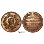 ZJ90, Germany, Prussia, Bronze Medal 1883 (Ø77mm, 146.2g) by Loos/Mertens, Wilhelm I Silver Wedding