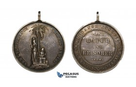 ZJ96, Great Britain & India, Silver Medal 1897 (Ø35mm, 20.93g) Army Temperance