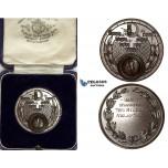 ZJ97, Great Britain, Bronze Sports Medal 1934 (Ø39mm, 27.10g) by T. Fattorini, Owl, Original Box, UNC