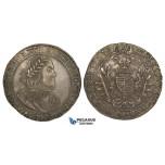 ZJ98, Hungary, Ferdinand III, Taler 1658-KB, Kremnitz, Silver (28.71g) Toned EF